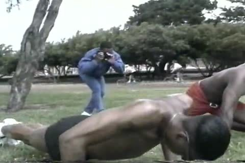 yummy black guys analhole pokeing After Workout At The Park