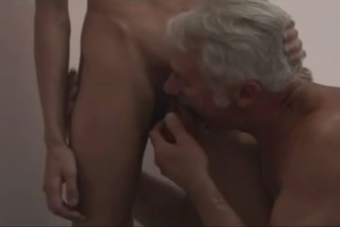 Blond stud slamed by grampa!