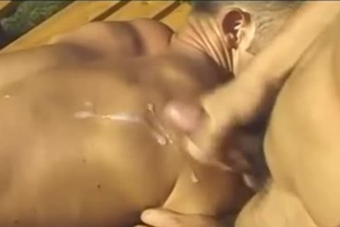 trio Muscle fellows suck & bang On Tthis chab Field