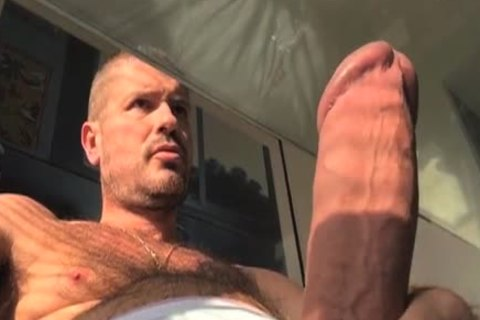 TIERY B. // PHOTO-PORNO-GRAPHER - Copyright / Climax - Masturb And Cumming Into condom - tight hirsute stud