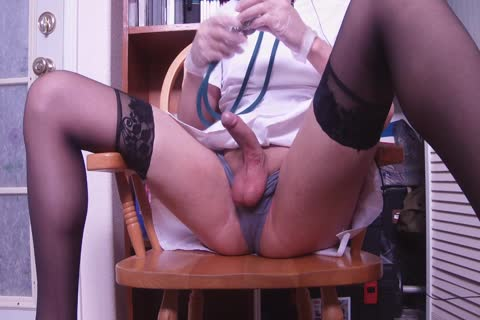 Crossdressing Nurse Masturbation