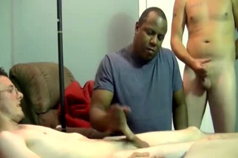 dark man sucking And Stroking big penis