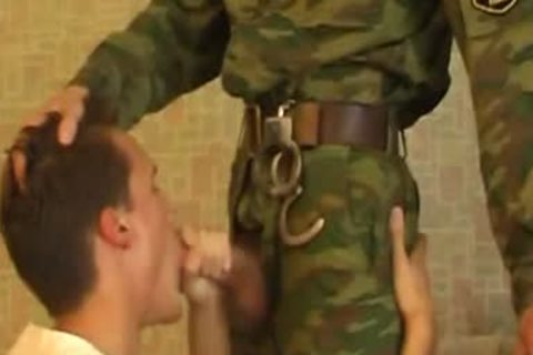 guy Sucks schlong Of young lovely Military lad