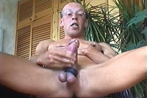 concupiscent Jerk-off Ending In a lot of Cumshots, Followed By A Slow Motion Part.
