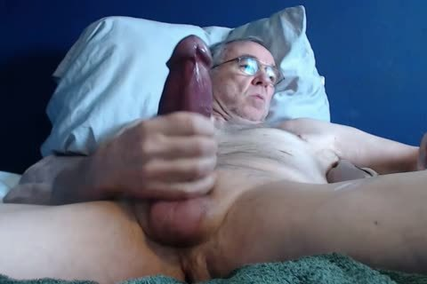 large cock grandad long jerk off On web camera (no sperm)