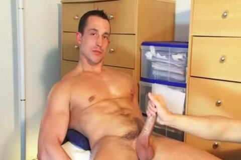 str8 lad Found In A Gym Club, he acquires Wanked His penis By A lad On video!
