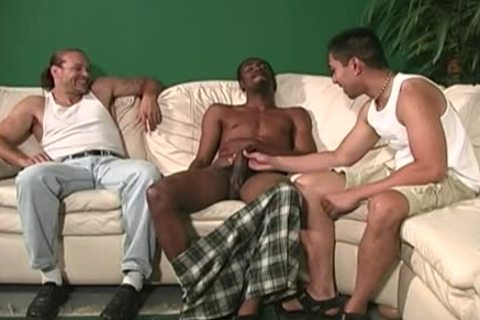 White guy gets butthole team-banged By dark males
