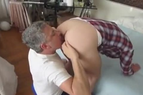 gigantic 10-Pounder twink With His Daddies