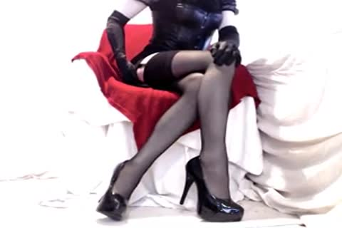 horny Seamed stockings And Heels