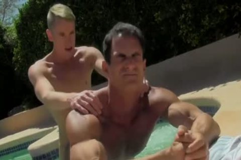 sleazy pumped up men Having painfully enjoyment By The Pool