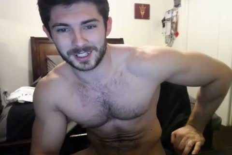 cute bushy Hunky Doing A web camera Show.