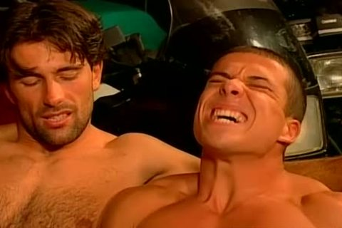 Muscled Biker males rough And raw plow Feast homosexual fuckfest