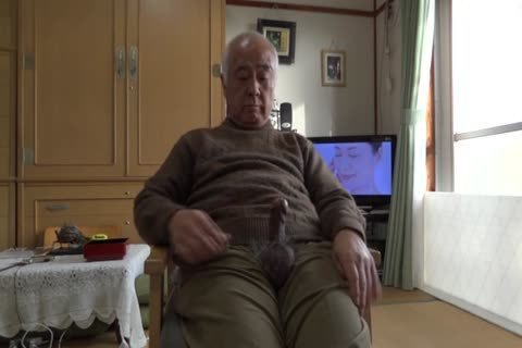 grandad Plays With His penis