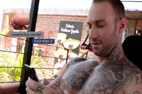 An Inked Tattoo Hunky nice hairless Has Somee ass Twerk smth And Then Unloads A cumshot