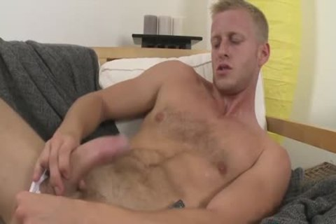 Light Haired School chap chap Denis Pleasures Himself And His valuable tasty Johnson