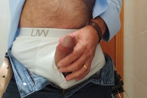 Teasing And wanking A good Tool With Precum In Some White Boxer underwear