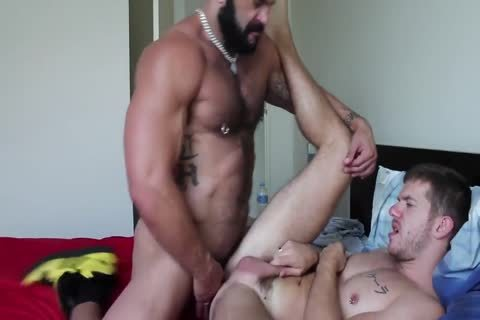 Muscle Bull Gives Male Serious pooper pounding
