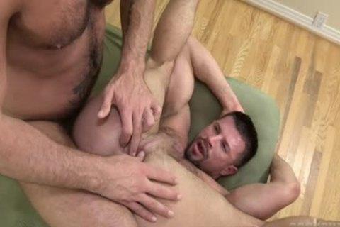 Muscle Bear Flip Flop With butthole ball cream flow