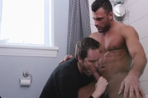 big penis gay oral-job With Facial