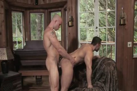 Muscle gay anal-copulation And ball cream flow
