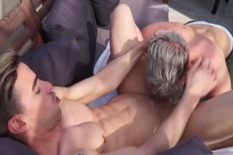 Muscle gay butthole job With Facial