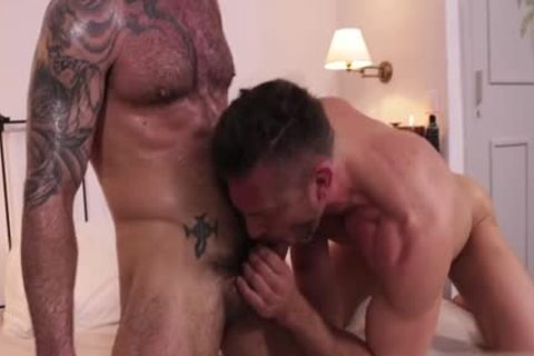 Muscle pecker Flip Flop With cumshot