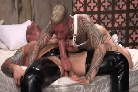 Tattoo'd Muscle Beefcakes With Bum Love Behind banging Fetish lick cock And Take A semen flow