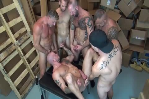 Warehouse gangbang