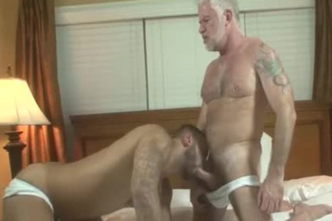 handsome Silver Daddy Jake Marshall And young guy Rikk bang On Vacation