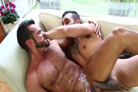 Latin homo butt stab With cock juice flow