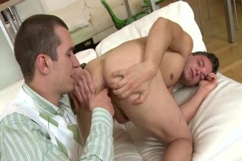 big cock Daddy suck job-service And cumshot