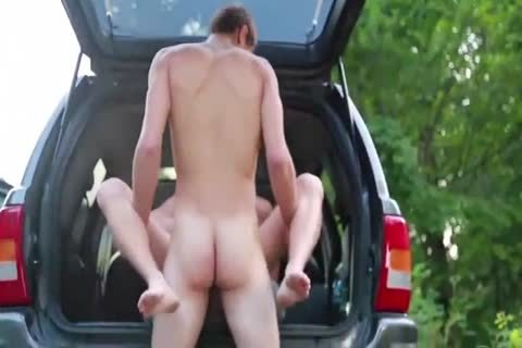 sexy bushy Blond pounded Outdoor By Hung young M