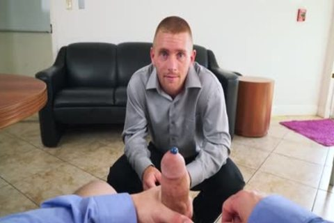 Muscle homosexual blowjob With Facial