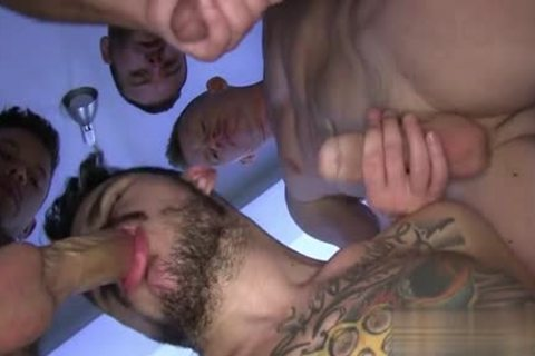 Tattoo homosexual ass With cumshot