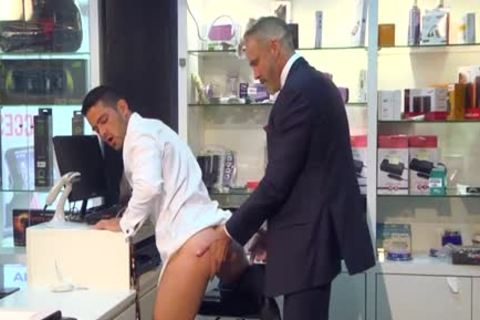 Muscle homo butthole stab And semen flow