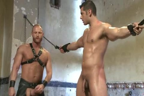 Muscle gay bound With Facial sperm