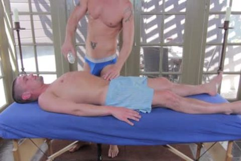 GayRoom Initimate Massage Ends In boys boning booty