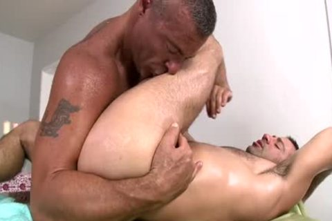 Trace Massages And fucks one greater quantity Dilf