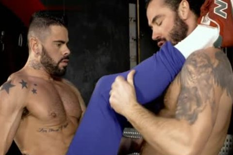 Muscle homosexual oral sex stimulation With goo flow