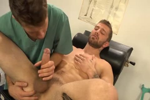 Muscle homosexual Dp With ball cream flow