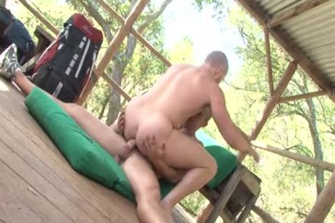 Muscle Bottom Outdoor Sex With spooge flow