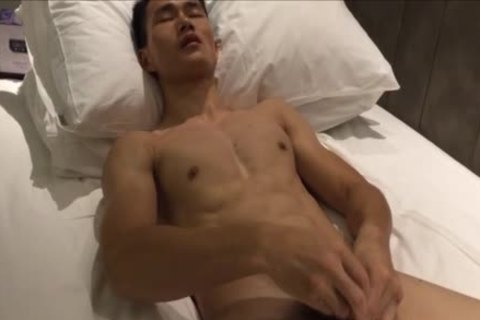 horny muscular Hunk Playing His cock