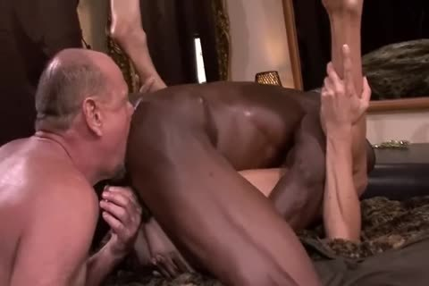 Interracial old three-some