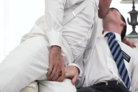 Ginger Bottom Passionately poked unprotected By daddy Priest