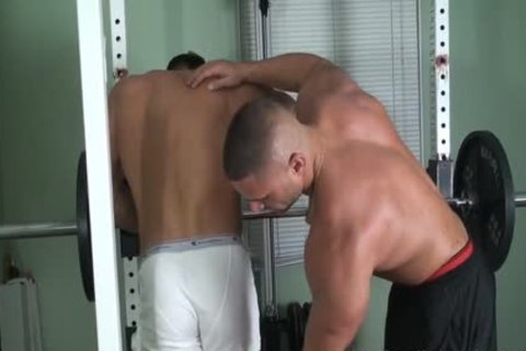 1-16 three Muscle bound And Worshipped