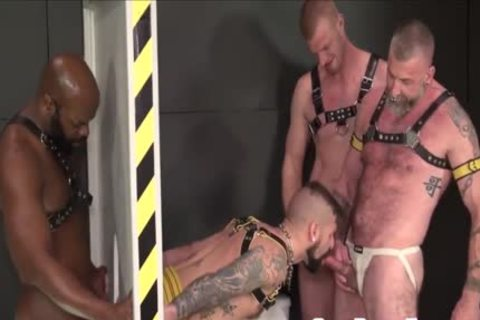 Tattooed Sub Bottom acquires plowed At Gloryhole By