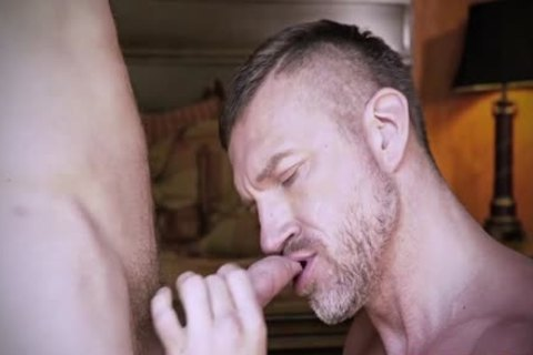 Muscle Daddy a-hole bang With sperm flow