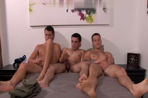 large dick gay trio With cumshot