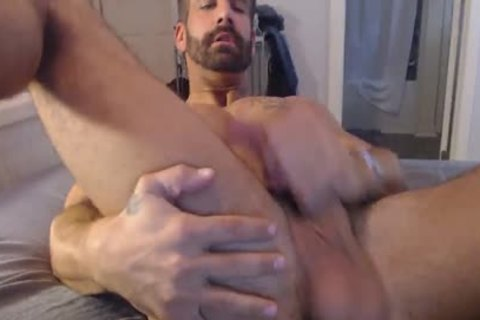Straight dude Plays With His ass And Monster penis