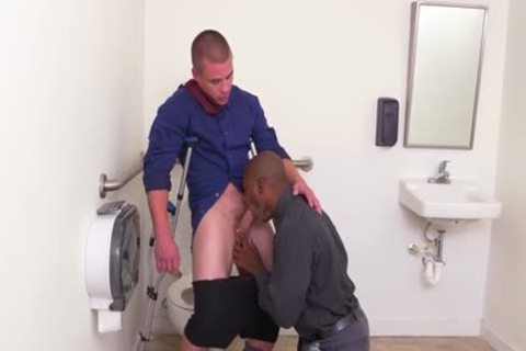 large penis homosexual bj With Facial